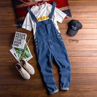 Mens Casual Denim Jeans Overalls Bib Suspenders Pants Strap Jumpsuit Romper NEW