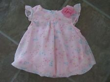 BEAUTIFUL BABY GIRL FLORAL BUBBLE DRESS BY LITTLE WONDERS / 6-9mo / NEW