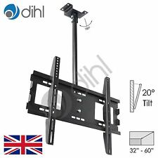 TV Ceiling Mounted Bracket Swivel Tilt LED Plasma 32 37 40 42 46 50 55 60 62 65""