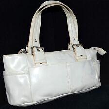 Kenneth Cole Reaction White Faux Leather Satchel Handbag