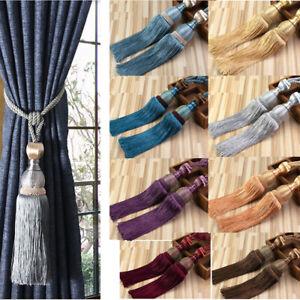 Pairs Curtain Holdbacks Class Rope Hanging Ball Tie Backs Tassel Tiebacks Window