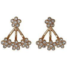Pilgrim Jewellery Rose Gold flowers crystals ear jacket 2in1 cluster, gift bag