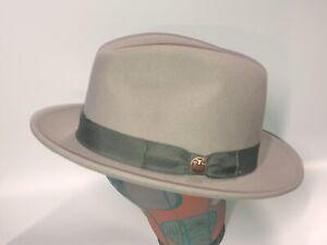 "GOORIN BROS "" Dean the Butcher "" Light Gray""  100% Wool Hat Fedora   XXL"