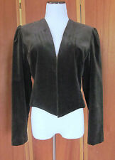 Retro Vtg 70s 80s Caron Chicago BOHO Velvet Steam Punk Goth Tuxedo/Dress Vest 14