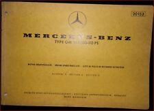 Mercedes OM 352 / 100 - 110 PS Motor-Ersatzteilliste