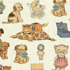 Paper Dolls Toys Fabric - Windham priced by the 1/2 yard