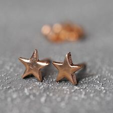 NEU Edelstahl OHRSTECKER STERNE Farbe rosegold OHRRINGE STERN Star