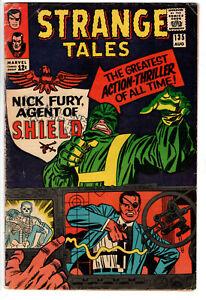 STRANGE TALES #135 (1965) - GRADE 4.5 - 1ST APP HYDRA SHIELD NICK FURY & LMD!