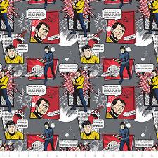 Star Trek Galaxy Spock Kirk Pop Panel De Tela De 100/% Algodón Acolchado
