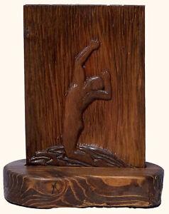 Sweet Rain Classic Male Pose Original Cherry Relief Woodblock