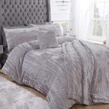 Sleepdown Crinkle Velvet Bedding - Luxury Duvet Cover and Pillowcase Set