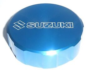 SUZUKI GSX1100F 1987-96 FRONT BRAKE MASTER CYLINDER SCREW TOP LID CAP BLUE B20G
