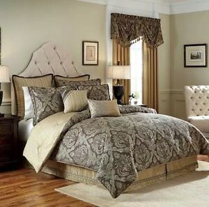 CROSCILL Estate 4 Piece Comforter SET Size: QUEEN New SHIP FREE Bedding ASHFIELD