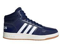 Adidas HOOPS 2.0 MID EE7384 Blu Scarpe da Ginnastica Uomo Sportive