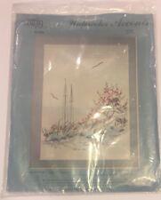 Vtg Cathy Alexander Bluffs NIP Crewel Embroidery Kit Watercolor Beach Krupp