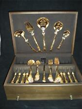 Towle Golden Contessa Supreme 18/8, Setting for 8 w/ Serving & Box, 46 Pieces