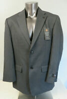 Mens HAGGAR Gray 2 Button Suit Formal Jacket New Size 42L Single Vent