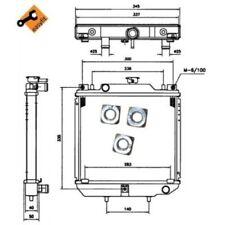 NRF Radiator, engine cooling EASY FIT 52110
