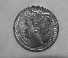 Silber/Silver Niederlande/Netherlands Wilhelmina 1907, 1 Gulden VZ/XF