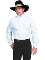 Scully Rangewear Mens White 100% Cotton L/S Big Tuxedo Western Shirt