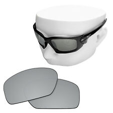 OOWLIT Replacement Sunglass Lenses for-Oakley Scalpel POLARIZED - Silver Mirror