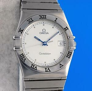 Mens Omega Constellation SS Steel Watch - Silver Dial