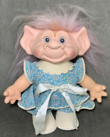 "Vintage Scandia House Troll Doll Vinyl Head Cloth Body 1960s 11"" Pink Mohair"