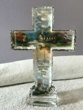 Bradford Exchange Kinkade Crystalline Cross Faith All Things Possible w/God