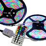 10M 3528 RGB SMD 600 LED Waterproof Change Color 12V Light Strip 44 Key Remote