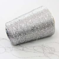 Sale New 1Cone 500g Nylon Polyester Sequin Hand Knit Wrap Scarfs Crochet Yarn 24