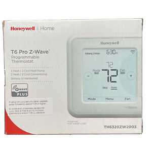 Honeywell TH6320ZW2003 T-6 Z-Wave Thermostat - White - Open Box - New