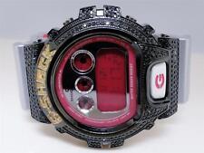 Mens Black and Yellow Genuine Diamond G-Shock G Shock Custom Watch 6900