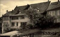 Eisenach Thüringen alte DDR Ansichtskarte 1962 Partie am Bach Haus Vorgarten