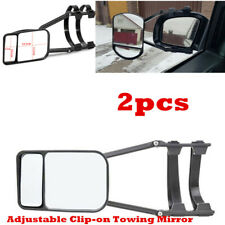 Towing Mirror Car Trailer Rear Side View Mirrors Extension Left & Right Pair Set