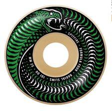 Spitfire F4 Radial Slims Venomous Nat/Green Skateboard Wheels - 52mm 101a duro