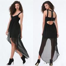 BEBE BLACK BANDAGE FLOWY SKIRT HI LOW DRESS NEW NWT $139 SMALL S