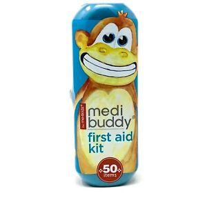 MediBuddy - 50 Item First Aid Kit by me4kidz - Medi Buddy Blue Monkey