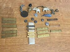 More details for collection of ww1 lucky charms & campaign medal bars and rosettes