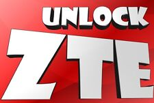 ZTE Unlock Code MF180 MF190 MF170 MF110 MF673u SFR114 SFR231 SFR 232 SFR241