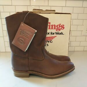 Red Wing Boots Mens 1155 Pecos Pull On Western Work motorcycle brown size 15