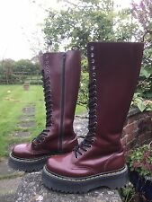 Dr Martens Cherry Red Smooth Leather Jadon boots 20 Hole UK 3 EU 36 kawaii punk
