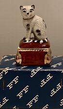 VINTAGE ADORABLE FF 1981 FITZ & FLOYD CAT TRINKET BOX Staffordshire Reproduction