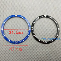 41mm  Insert Blue/Black Ceramic Bezel Watch Parts Fit Men's Watch