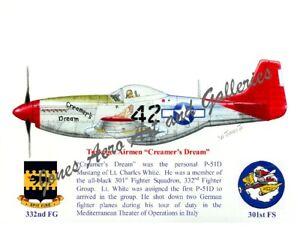 "Tuskegee Airmen P-51 ""Creamer's Dream"" Print by Willie Jones Jr"