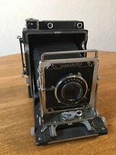 Graflex Crown Graphic 4x5 Film Camera with Wollensak Optar f/4.7 135mm Lens