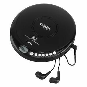 Jensen Portable CD-120BK Portable Personal CD Player Compact 120 SEC Anti-Ski...