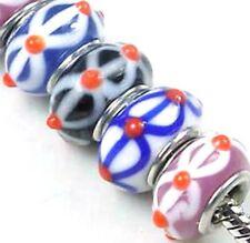 Lampwork Handmade Fit Charm Bracelet Assorted (8)