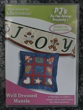 Anita Goodesign Well Dressed Mantle hoop Project Embroidery Designs CD ,sealed