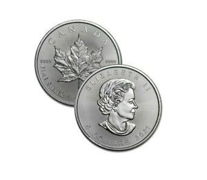 2021 Silver $5 Silver Canadian Maple Leaf 1 oz Brilliant Uncirculated