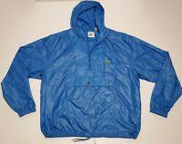 VTG 90s Izod Lacoste Nylon Anorak Windbreaker Jacket Zip Pullover Size L GUC